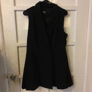 Zara Double Breasted Tuxedo Dress L